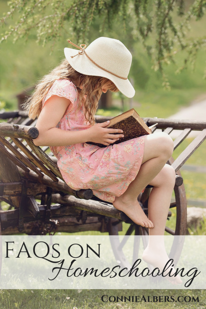 Frequently asked questions, FAQs on homeschooling. ConnieAlbers.com