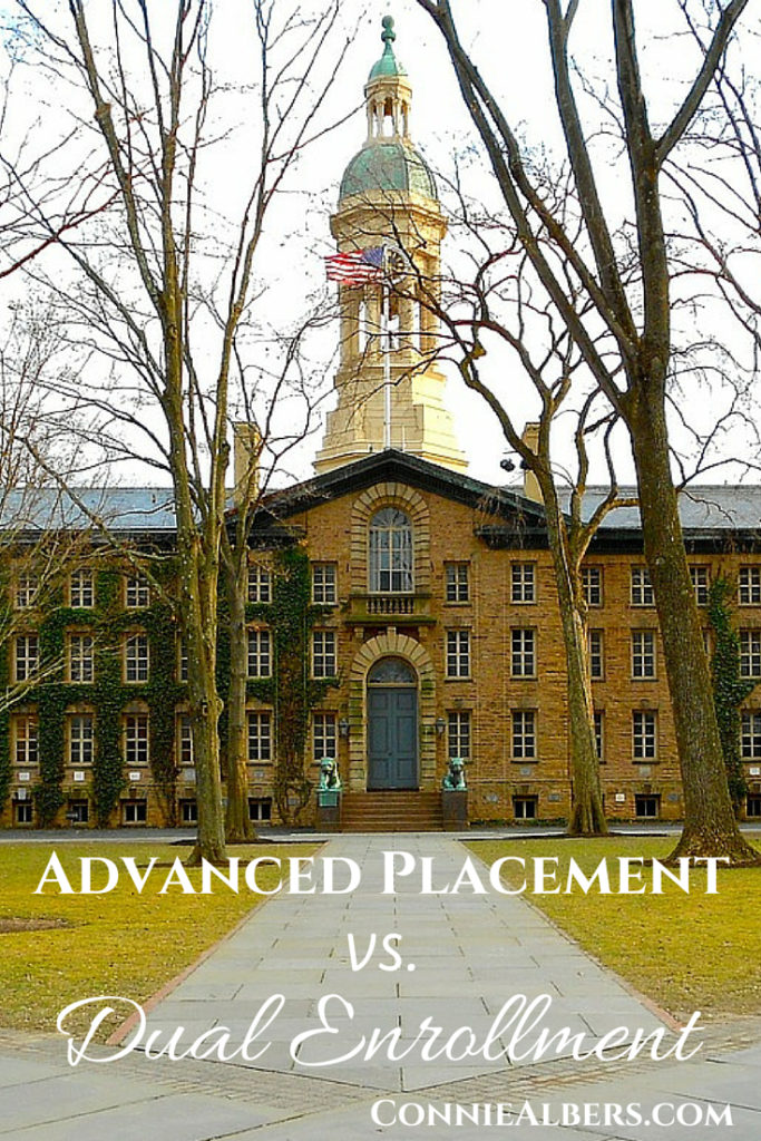 Benefits of Advanced Placement AP courses and Dual Enrollment study for homeschool students. ConnieAlbers.com