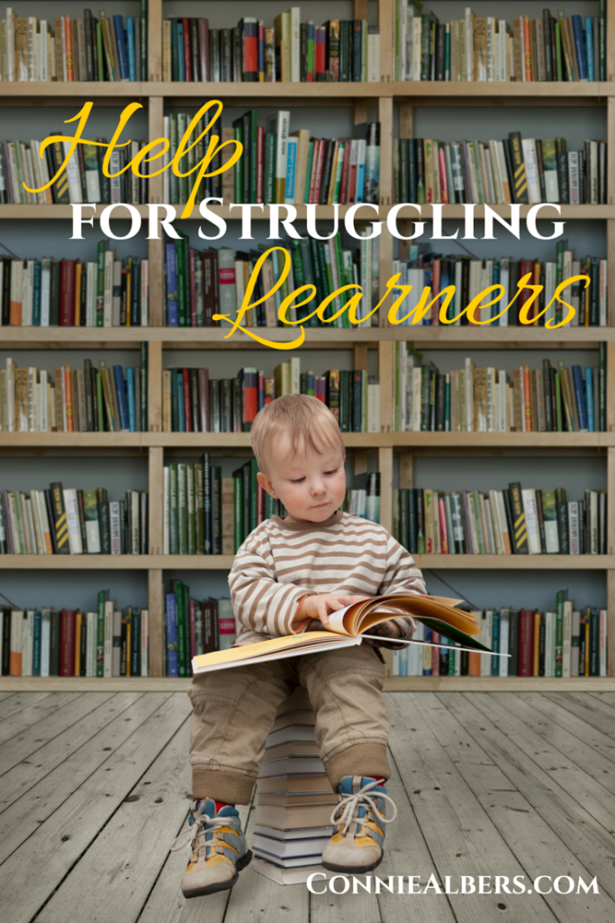 There is help available for your struggling learner. Discover the resources that you need to help and advocate for your child. ConnieAlbers.com