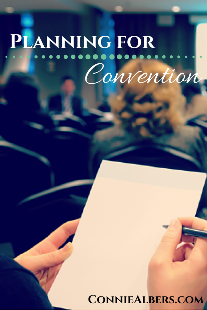 Tips for planning your next homeschool or blogging convention attendance. Learn to make the most of your convention experience and opportunity. ConnieAlbers.com