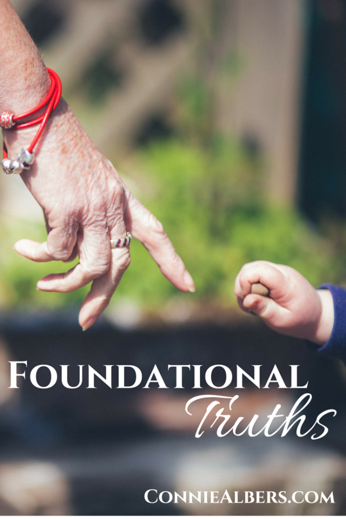 Family is built on foundational truths. Set your family on the right track with a strong foundation in God. ConnieAlbers.com