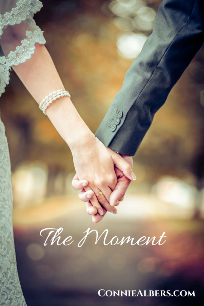 The Moment when two lives become one. Christian marriage encouragement from ConnieAlbers.com