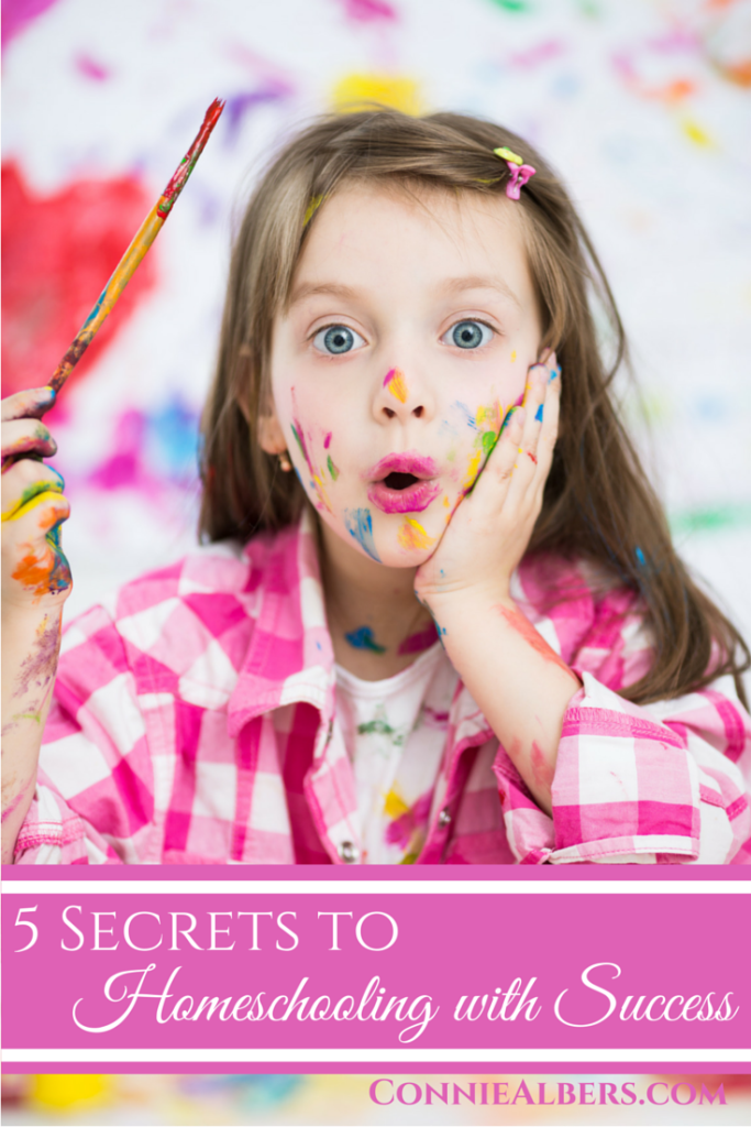 5 secrets to homeschooling success to equip you on your homeschool journey. Homeschool encouragement from ConnieAlbers.com