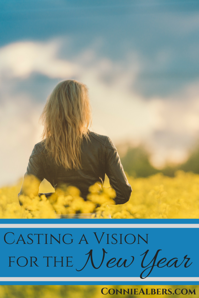 Casting a vision for the New Year that is inline with your Christian faith and family priorities. ConnieAlbers.com
